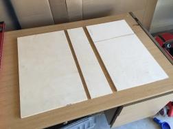 Box pieces cut
