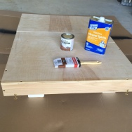 Preparing for wood stain